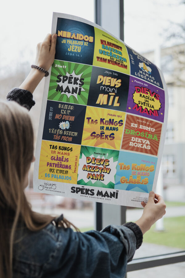 Rakstu vietu plakāts bērniem